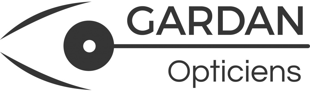 Logo Gardan Opticiens monochrome noir