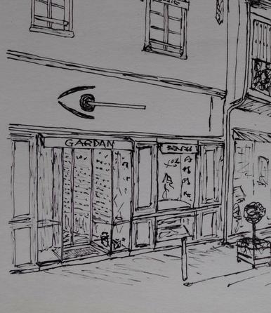 Magasin Châteaugiron Gardan Opticiens en dessin